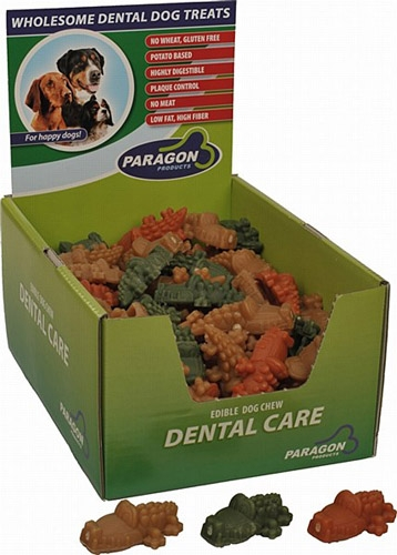 "Paragon Alligator Dental Dog Treat Small 3.2"" 100 ct. Display Box"