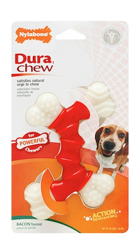 Dura Chew Double Bone Bacon Pet