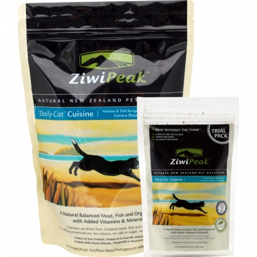 ZiwiPeak Venison/Fish Cat Cuisine 4.5oz trial pouch