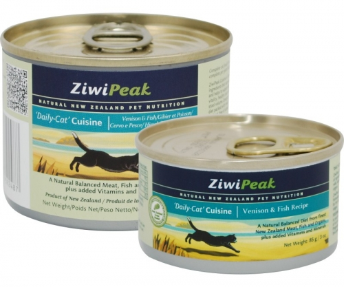 ZiwiPeak Venison and Fish Cans for Cat 12/6 oz.