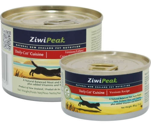 ZiwiPeak Venison Cans for Cat 12/6 oz.