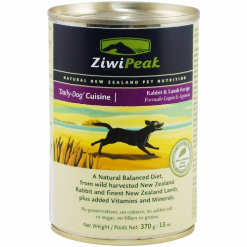 ZiwiPeak 'Daily-Dog' Cuisine Rabbit & Lamb Can 12/13oz