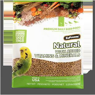 ZUPREEM NATURAL SMALL BIRD 2.25# POUCH