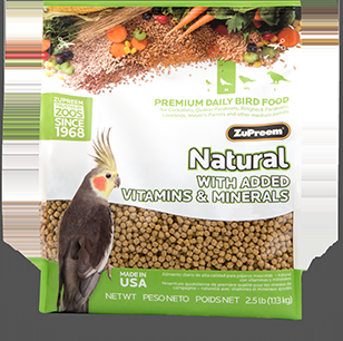 Zupreem Natural Medium -Cockatiel, 20 Lb