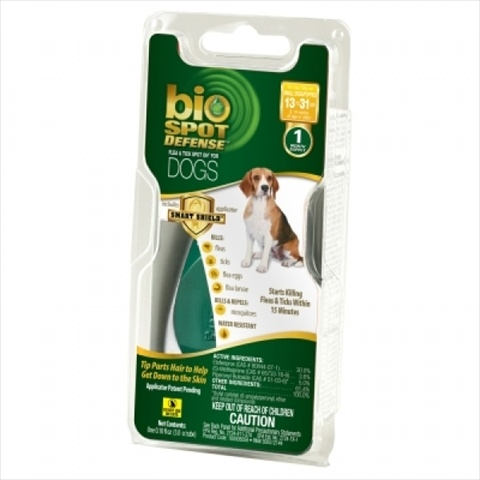 Bio Spot® Defense Flea & Tick Spot On® for Dogs 13-31 lbs. (1M SS) SMALL