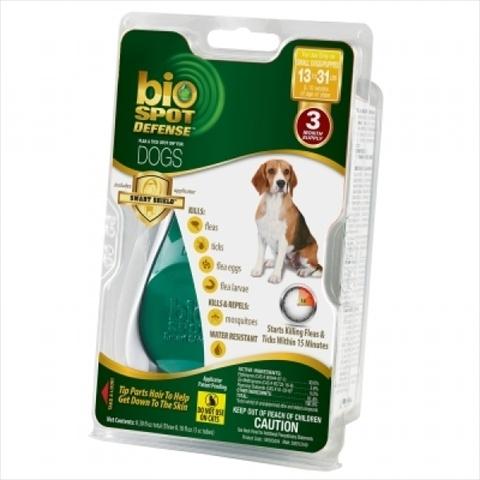 Bio Spot® Defense Flea & Tick Spot On® for Dogs 13-31 lbs. (3M SS) SMALL