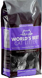 World's Best Scented Multiple Cat Clumping Formula 5/7lb