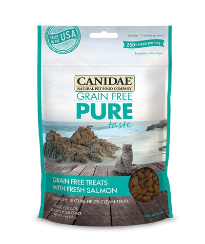 CANIDAE Grain Free Pure Taste Cat Treats with Fresh Salmon