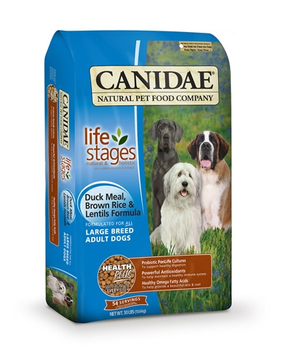 CANIDAE Large Breed Adult Formula, Duck, Brown Rice & Lentils