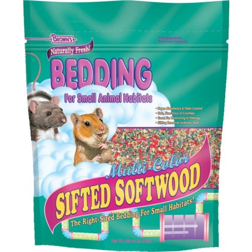 F.M. Brown's Multi-Colored Sifted Softwood Bedding 6/288 Cubic Inches