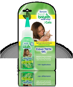 Tropiclean Fresh Breath Teeth Gel Kit for Cats 2 oz.