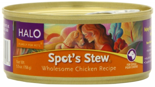 Halo Spot's Stew for Dogs, Wholesome Chicken, 12/5.5 oz.
