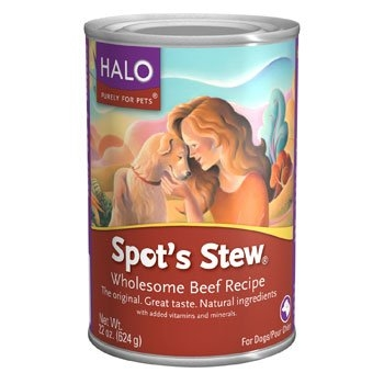 Halo Spot's Stew for Dogs, Wholesome Beef, 6/22 oz. Pack