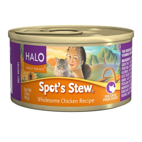 Halo Spot's Stew For Cats Wholesome Chicken 12/3 oz.