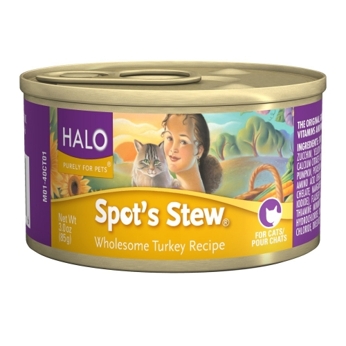 Halo Spot's Stew Wholesome Turkey Canned Cat Food