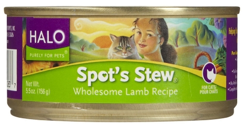 Halo Spot's Stew For Cats Wholesome Lamb 12/5.5 oz.