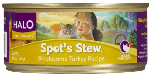 Halo Spot's Stew For Cats Wholesome Turkey - 5.5 oz.
