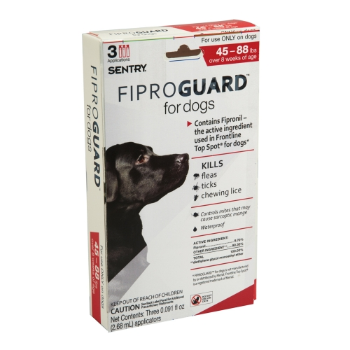 Sergeant's Fiproguard Flea & Tick Squeeze-On for Dogs 45-88lbs