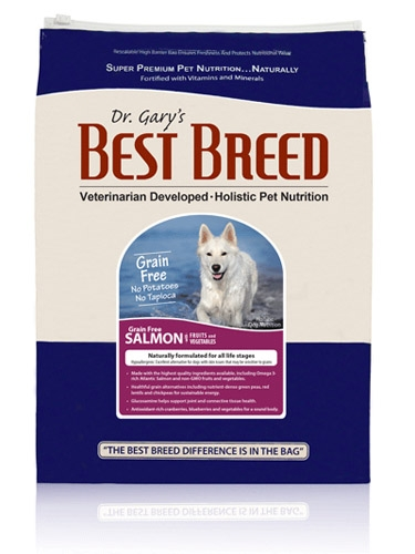 Best Breed Grain Free Dog Salmon W/Fruits & Vegetables 30Lb