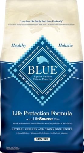 Blue Buffalo Senior Chicken/Brown Rice Dog 30#