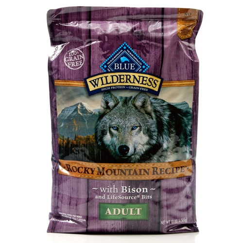 Blue Buffalo Wilderness Rocky Mountain Recipe  Adult Bison Dog 10#