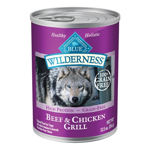 Blue Buffalo Wilderness Beef/Chicken Dog Can 12.5OZ