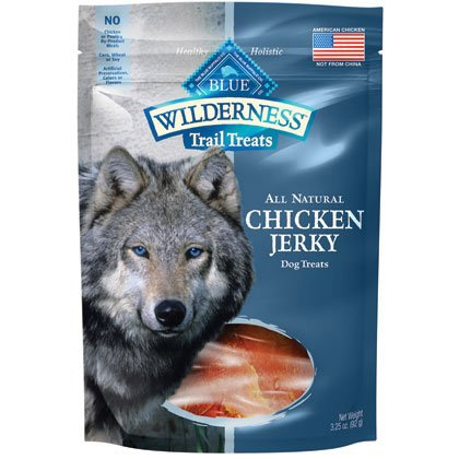 Blue Buffalo Wilderness Chicken Jerky 3.25OZ C=6