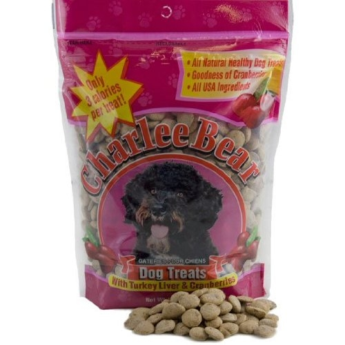 Charlee Bear Turkey Liver & Cranberry Dog Treats 16 oz. Pouch **Each