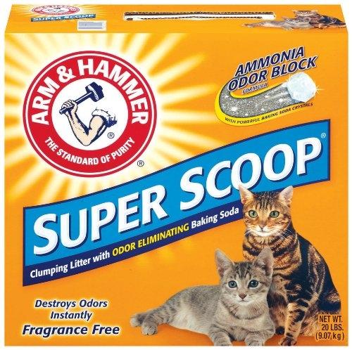 Arm & Hammer Superscoop Clump Unscented Litter  2/20 lb.