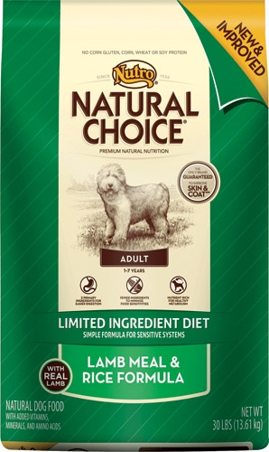 Nutro Natural Choice LID Lamb/Brown Rice  30#