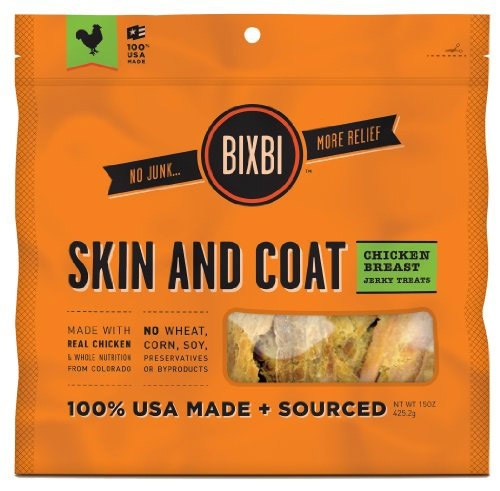 Bixbi Chicken Jerky Skin/Coat 15Oz