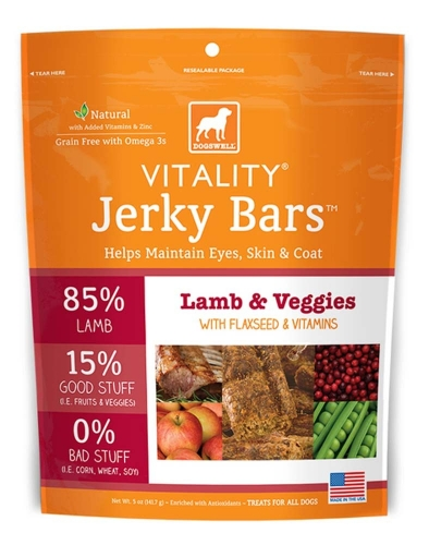 DOGSWELL® 5 oz VITALITY® Jerky Bars Lamb & Veggies