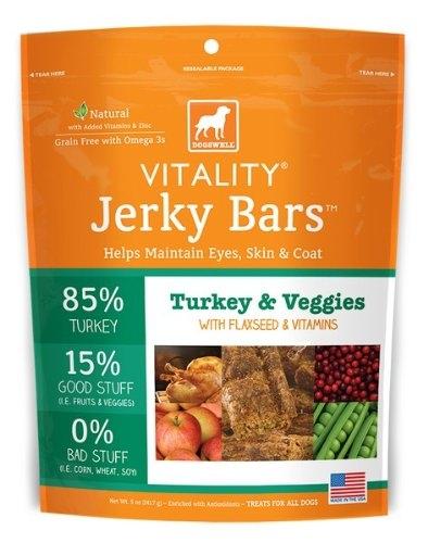DOGSWELL® 15 oz VITALITY® Jerky Bars Turkey & Veggies  Replaces 842358