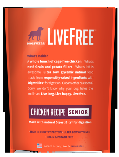 Dogswell Livefree™ Senior Chicken Recipe Dry Dog Food