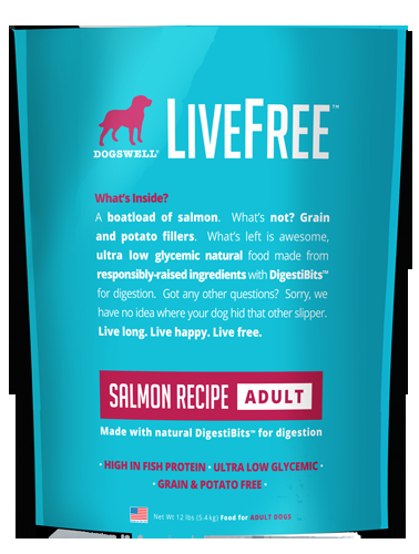 Dogswell Livefree™ Adult Salmon Recipe Dry Dog Food
