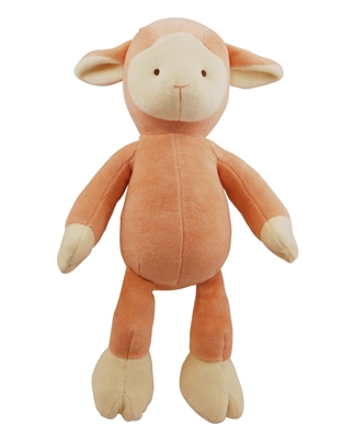 6 inch Petite Pink Lolly Lamb with squeaker