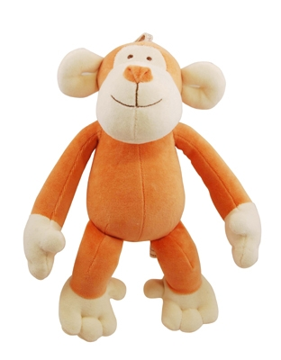6 inch Petite Brown Oscar Monkey with squeaker