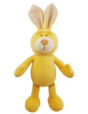 6 inch Petite Yellow Lucy Bunny with squeaker