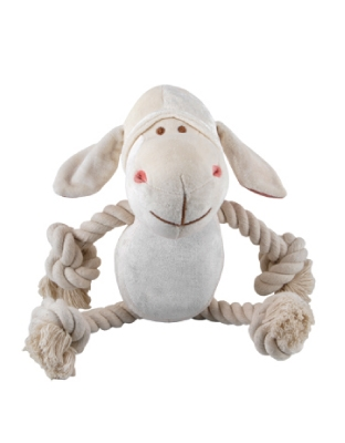 10 inch Bamboo White Lolly Lamb with squeaker
