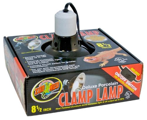Zoo Dlx Porc Clmp Lamp Blk 8.5