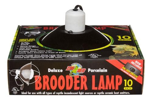 Zoo Dlx Porc Brood Lamp Blk 10