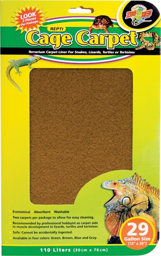 "Zoo Cage Carpet 12X30"" 29Gal"