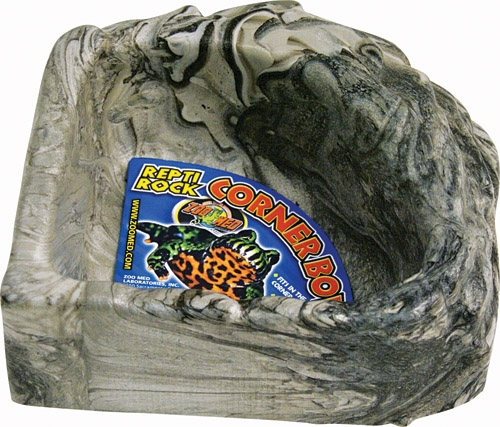 Zoo Repti Rock Corner Bowl Lg