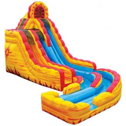 Inflatable Fire and Ice Wet Dry Slide