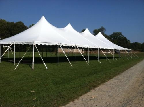 40 x 120 Peak Pole Tent