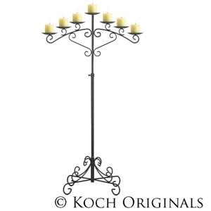 Koch Originals 7-Light Fan Floor Candelabra