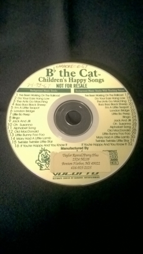 Karaoke CD, Children's Happy Songs