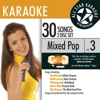 Karaoke CD, Mixed Pop Vol. 3 Disc 1