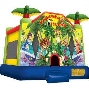 Tropical Island Jump House
