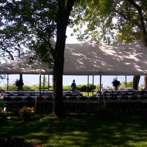 20 x 40 White Tent on Lake Michigan